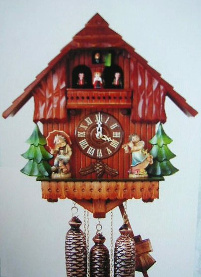 hh 4 delux hummel figurines alpine chalet cuckoo clock